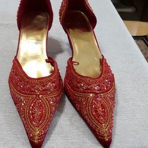 DollHouse, beaded short heels